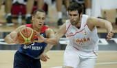 奥运图:西班牙男篮险胜英国 劳伦斯传球