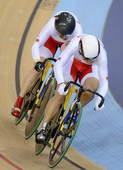 奥运图:中国自行车金牌变银牌 比赛画面