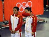 奥运图:中国自行车金牌变银牌 擦干眼泪