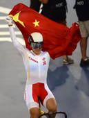 奥运图:中国自行车金牌变银牌 五星红旗