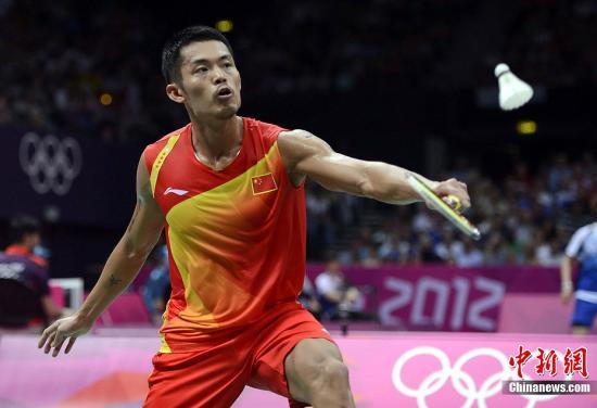 当地时间8月2日,伦敦奥运会羽毛球男子单打14决赛,中国选手林丹以2:1险胜日本30岁老将佐佐木翔。图片来源:Osport全体育图片社