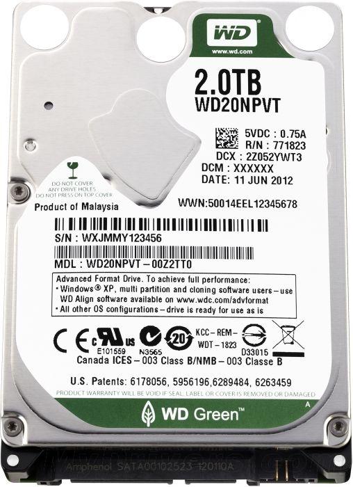 西数首款2.5英寸2TB裸盘今日正式发售