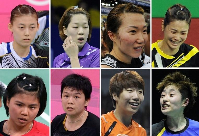 被取消继续参赛资格的8名运动员