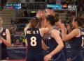 奥运视频-楚金玲拐腕扣直线 女排中国VS巴西