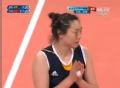 奥运视频-楚金玲4号位强攻 巴西拦网出界24平