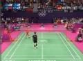 奥运视频-林丹正手高压霸气十足 男羽单打半决赛