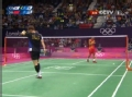 奥运视频-李炫一后仰劈杀得分 男羽单打半决赛