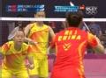 奥运视频-张楠平抽后场空档球 羽毛球混双决赛