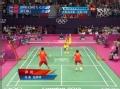 奥运视频-赵云蕾送头顶区攻杀 羽毛球混双决赛