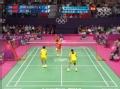 奥运视频-马晋回球过高 赵芸蕾网前高压球得手