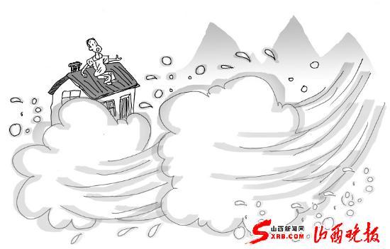 担架抬人卡通图片; 山洪来袭我们该如何应对(图); 山洪来袭 我们该图片