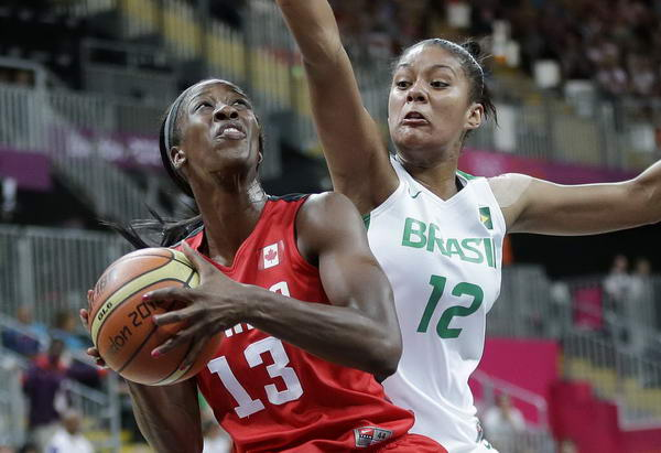 奥运图:加拿大女篮险胜巴西 上篮受阻
