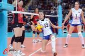 奥运图:女排小组赛俄罗斯胜日本 救球