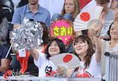 奥运图:女排小组赛俄罗斯胜日本 日本观众