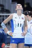 奥运图:女排小组赛俄罗斯胜日本 俄罗斯队员