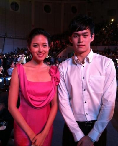 孙杨与张梓琳,这两位站起一起太养眼了