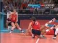 奥运视频-萨瓦纳飞身接球 女排英国VS多米尼加