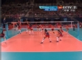 奥运视频-桑德尔怒吼扣杀 女排英国VS多米尼加