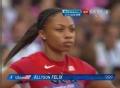 奥运视频-女子100米预赛第五小组菲利柯斯第一