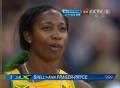 奥运视频-女子100米预赛第六小组弗雷泽获第一