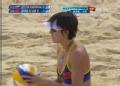 奥运视频-张希飞身救球挂网 沙排中国VS俄罗斯