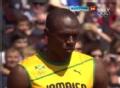 奥运视频-博尔特闲庭信步夺小组第1 男子100米
