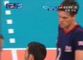 奥运视频-把卡雷边网飞身暴扣 男排A组预选赛