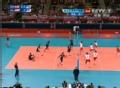 奥运视频-巴卡莱往前抢攻轻扣 男排A组预选赛