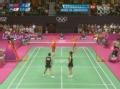 奥运视频-中国组合连续高压扣杀 女羽双打决赛