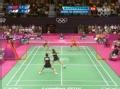 奥运视频-垣岩令佳反拍勾对角球 女羽双打决赛