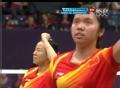 奥运视频-田卿吊球对手推扑失误 女羽双打决赛