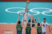 奥运图:意大利男排胜澳大利亚 无视拦网