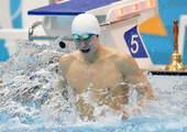 奥运图:男子1500米自决赛 拍水宣泄情绪