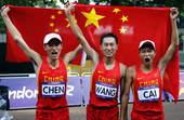 奥运图:陈定夺冠获最好礼物 中国三小伙