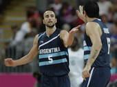 奥运图:阿根廷轻取尼日利亚 吉诺比利与队友