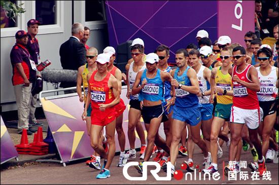 伦敦奥运会男子20公里竞走比赛。