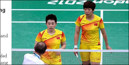 中国女子羽毛球双打组合于洋王晓理