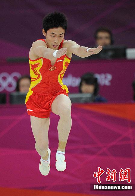 奥运体操男子自由操 邹凯摘金内村航平获银牌