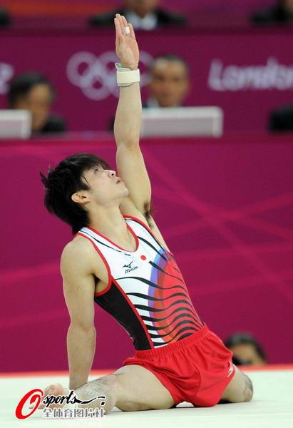 奥运图:邹凯成功卫冕  内村航平表现优异
