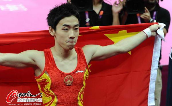 奥运图:邹凯成功卫冕  眼含泪水