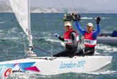 奥运图:帆船帆板赛精彩赛况 选手庆祝