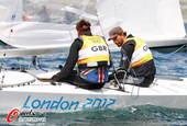 奥运图:帆船帆板赛精彩赛况 选手休息