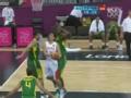 奥运视频-陈江华突破内线 巧妙反手打板打成2+1