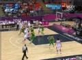 奥运视频-易建联圈顶突破遭遇犯规 中国VS巴西