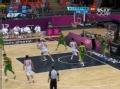 奥运视频-郭艾伦快攻突内线上反篮 中国VS巴西
