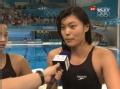 奥运视频-女子4X100混合泳赛后采访 努力拼搏