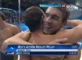 奥运赛事-美国队成功卫冕 男混4×100米接力赛