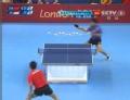 奥运视频-王皓离台快速对拉 詹健正拍抽杀失误