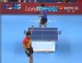 奥运视频-王皓侧身抢拉得分 男乒团体1/4决赛