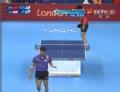 奥运视频-王皓反拍回球险擦边 男乒团体1/4决赛